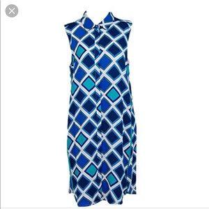 NWT Hatley Sleeveless Shirtdress Sz XL